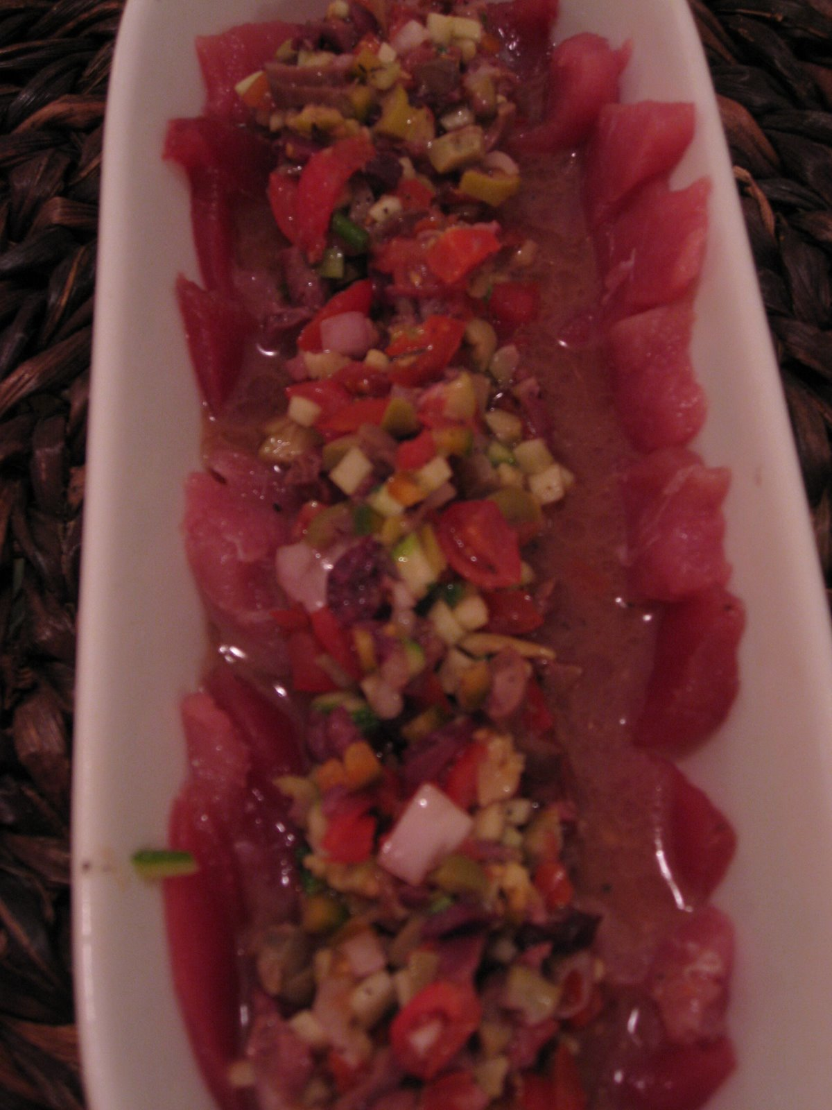 Tuna Carpaccio Ratatouille Vinaigrette