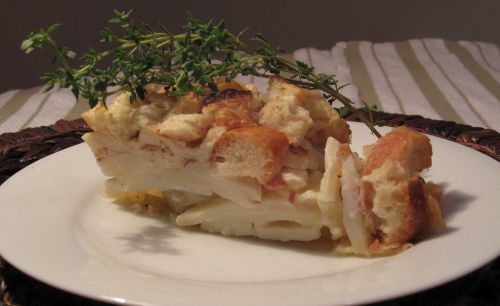 Potato Gratin and Baguette Stuffing Tart