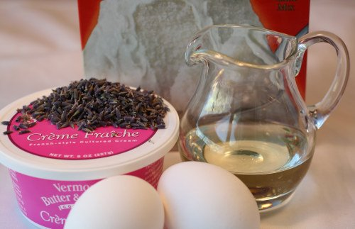 Lavender Cupcake Ingredients