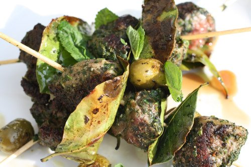 ... Lamb Brochettes With Thyme And Haricots Verts Recipes — Dishmaps