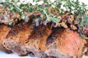 Steak with Tapenade