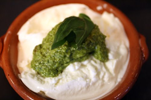 Jamie's Mozzarella with Pesto