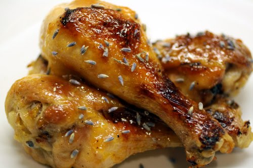 Lavender Apricot Chicken Drumsticks