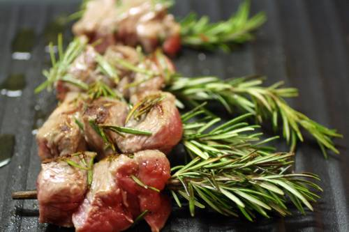 Rosemary Lamb Brochettes on the Grill