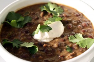 Black Bean Soup with Smoked Sour Cream