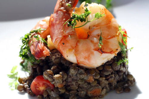 Lentil Salad with Shrimp