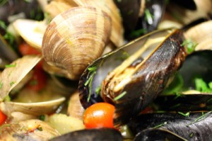 Spicy Marseilles Clams and Mussels