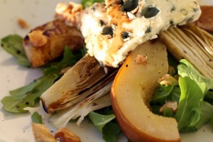 Roasted Endive and Pear Salad with Roquefort