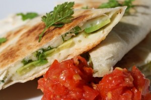 Brie and Avocado Quesadillas