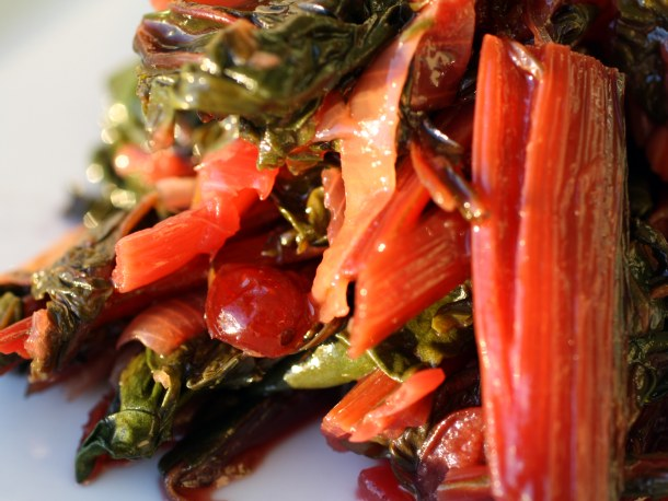 ... Ingredient (Cranberry) Part II: Braised Rainbow Chard with Cranberries