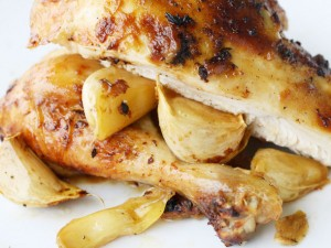Five Heads of Garlic Roast Chicken