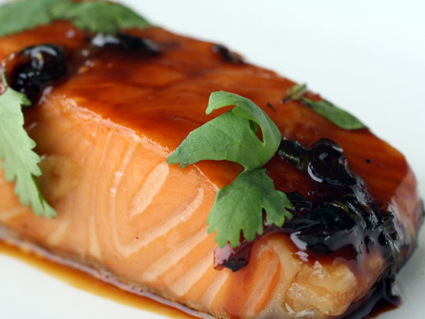 ... Maple and Soy-Glazed Salmon with Garlic and Ginger | French Revolution