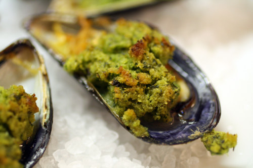Pastis and Persillade Stuffed Mussels
