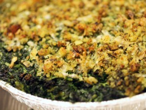 Pistou-Crumbed Creamed Spinach