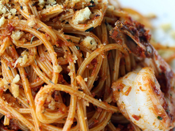 Tagliatelle With Red Provencal Pistou Recipe — Dishmaps