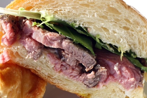 Steak and Horseradish Croissant Interior