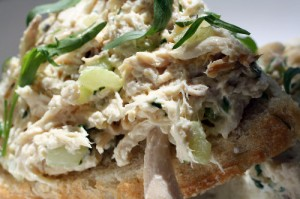 Tarragon Chicken Tartine