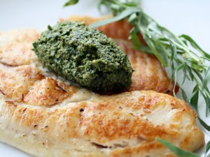 Tilapia with Tarragon Pistou