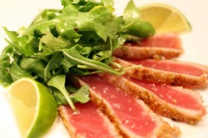 tuna steaks with wasabi green onion mayonnaise recipes seared ahi tuna ...