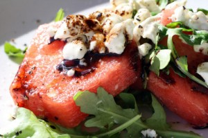 Watermelon and Toasted Goat Cheese Salad