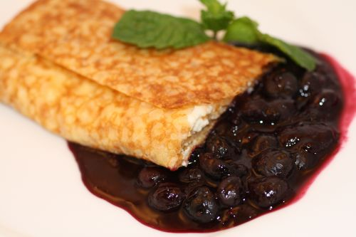 Blueberry Crèpe Blintzes