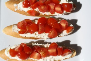 Boursin and Tomato Mini Tartines