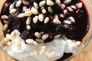 Blueberry Greek Yogurt Sundae