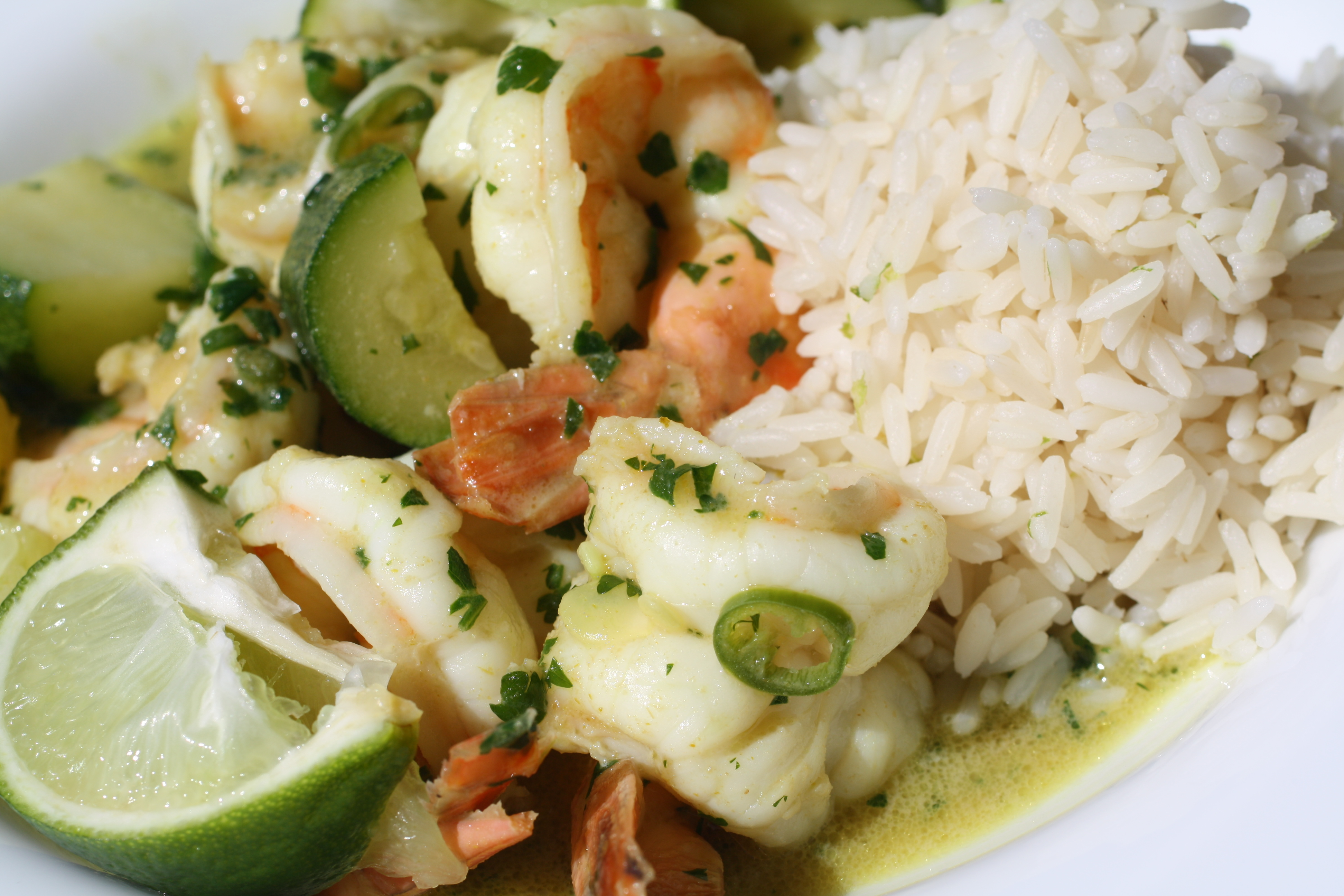 Thai Green Shrimp Curry