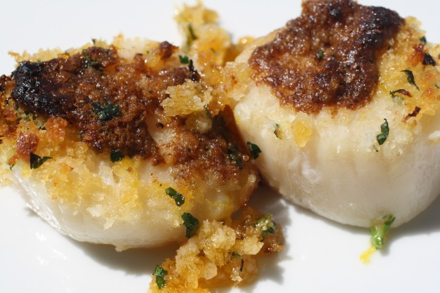 Moroccan Baked Scallops