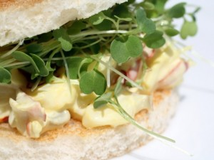 Saffron Lobster Tea Sandwich
