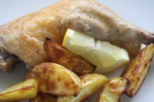 Lemon Roast Chicken and Potatoes