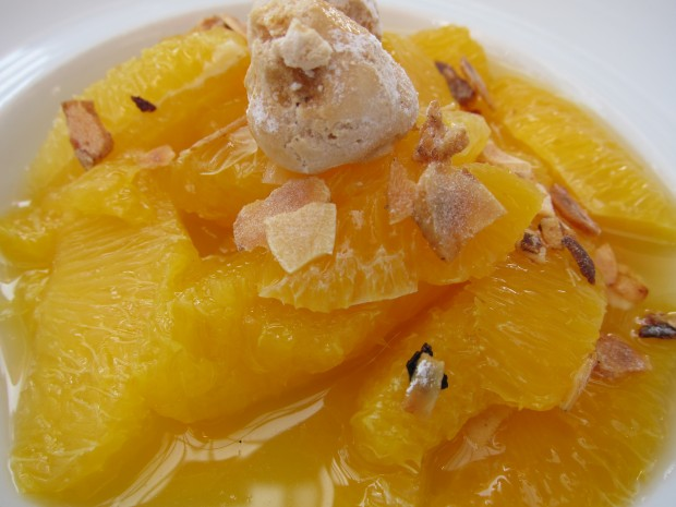 Orange Salad with Orange Flower Water and Almonds