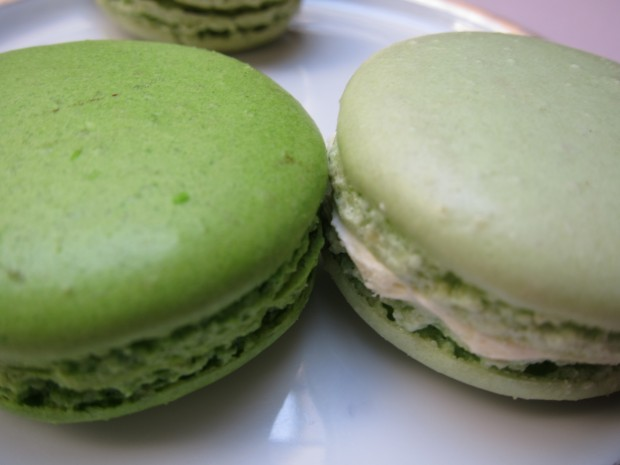 Granny Smith Apple, Lily of the Valley, and Pistachio Macarons