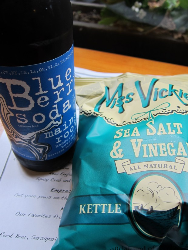 Maine Root Soda and Mrs. Vick's Chips