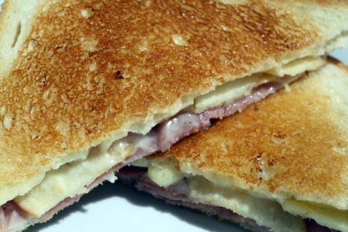 Apple Cheddar Croque Monsieur
