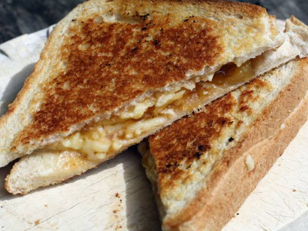 Cheddar and Chutney Toasties