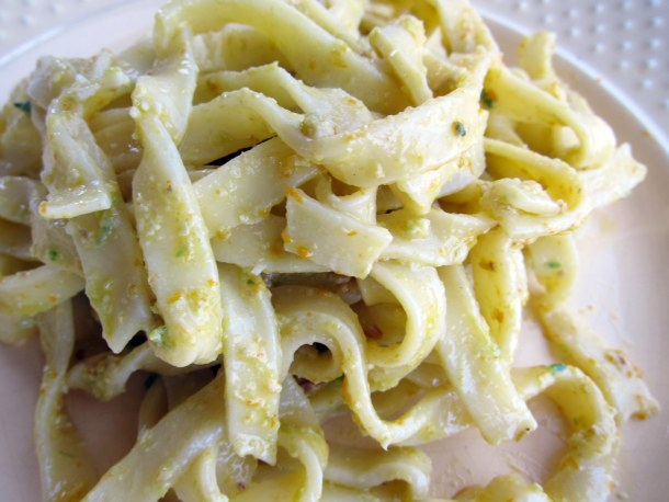 Tagliatelle With Red Provencal Pistou Recipes — Dishmaps