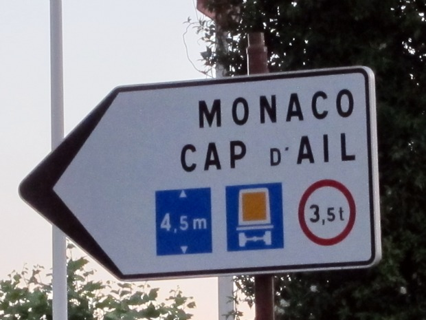 Cap d'Ail Sign