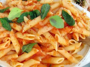 Penne with Piment d'Espelette