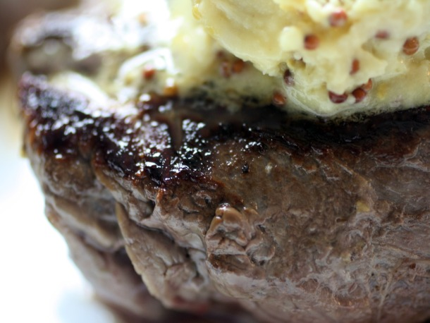 Steak with Mustard Butter