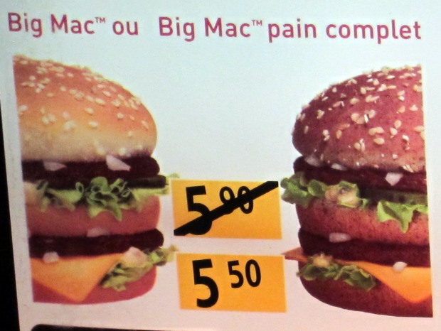 MENTON McDo Big Mac Pain Complet