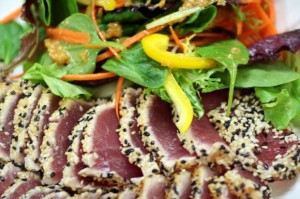 Sliced Sesame Tuna with Asian Salad
