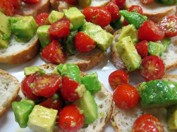 Avocado and Tomato Toasts