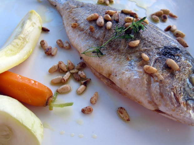 CARLA BAYLE Sea Bream with Pinenuts
