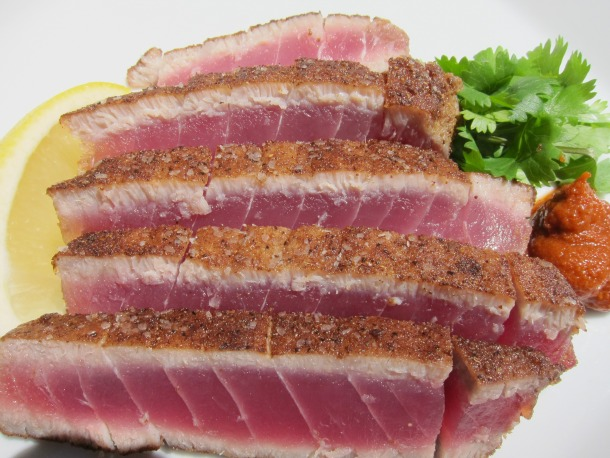 Moroccan Spiced Seared Rare Tuna