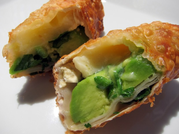Brie and Avocado Eggrolls