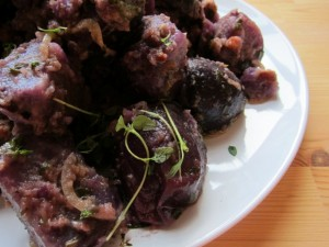 French Purple Potato Salad