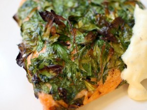 Parsley Salmon with Honey Mustard