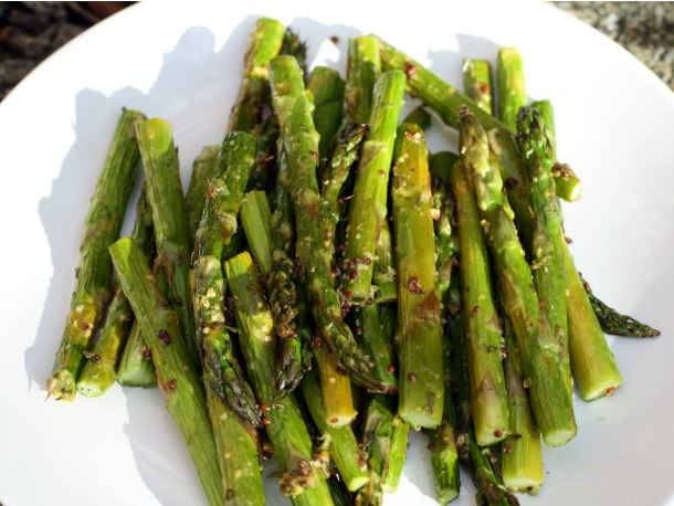 Roasted Asparagus with Whole Grain Mustard, Rosemary, and Lemon