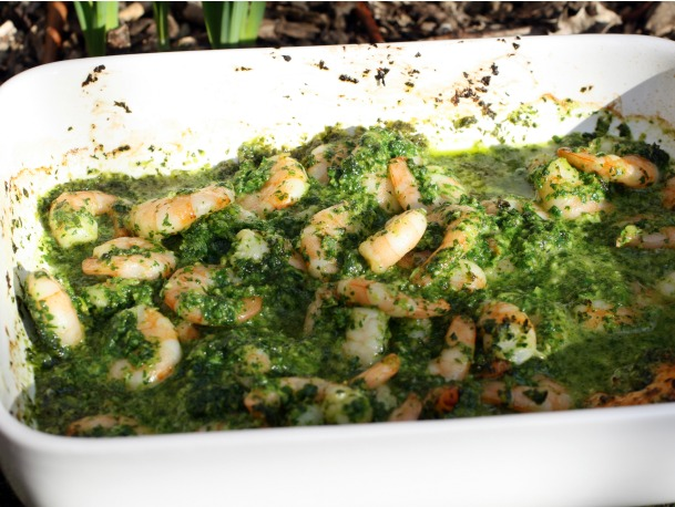 Parsley-holics' Shrimp with Green Sauce
